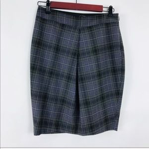 The Limited Plaid Lined Pencil skirt